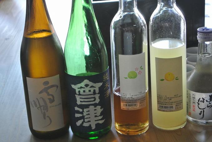「五百万石」をはじめ会津酒造さんで造っているお酒を試飲しました
